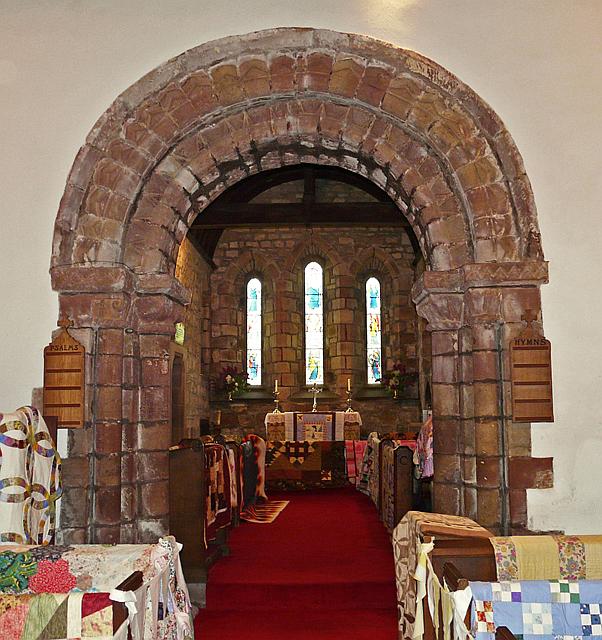 St Peter's Church, Kirkbampton - Norman chancel arch