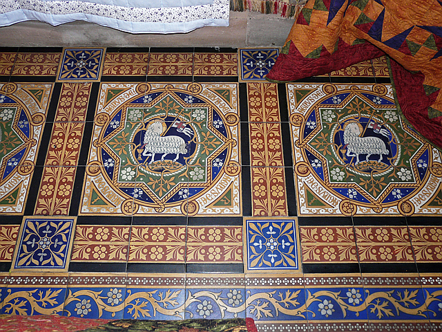St Peter's Church, Kirkbampton - Victorian floor tiles