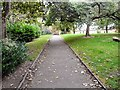 SJ8889 : Footpath in Edgeley Park by Gerald England