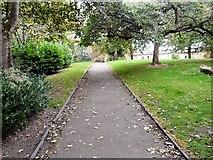 SJ8889 : Footpath in Edgeley Park by Gerald England