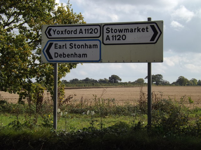 Roadsigns on the A1120 Church Road