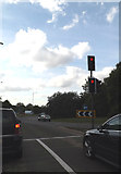 TL8663 : A14 slip road by Geographer