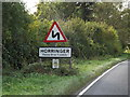 TL8362 : Horringer Village Name sign by Geographer