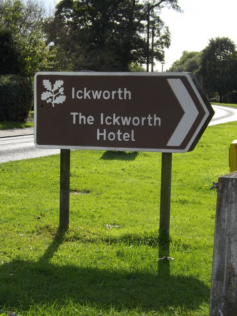 The Ickworth Hotel sign by Adrian Cable