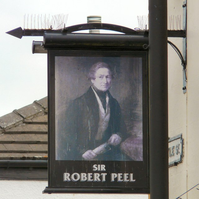 Sir Robert Peel: Pub sign