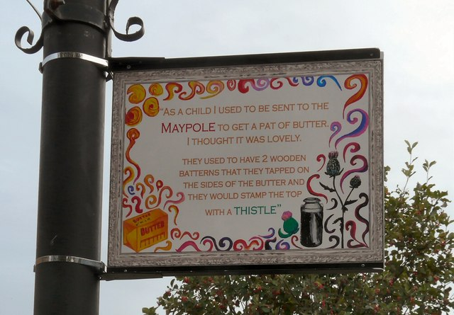 Edgeley Lamppost: Sent to the Maypole
