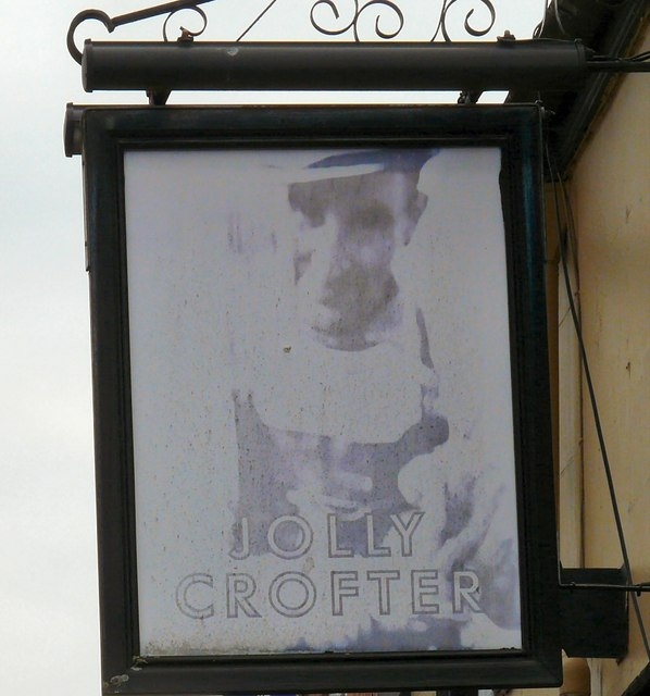 Sign for the Jolly Crofter