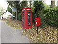 TL7554 : Telephone Box & Wickham Street Postbox by Adrian Cable