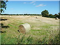 S6869 : Straw bales in the field behind St Brigid's ruined church, Tomard by Humphrey Bolton