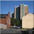 SO9390 : East on Himley Street towards Clent Court flats, Dudley by Robin Stott