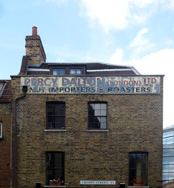 Ghost sign, Spitalfields