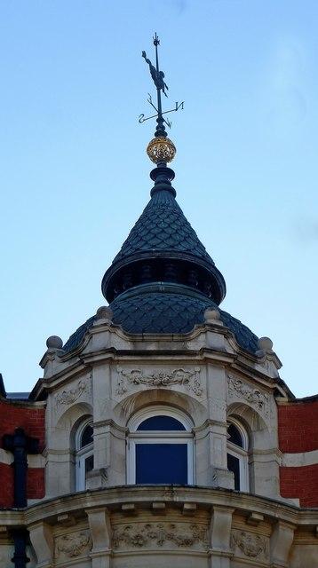 Turret and weathervane, Tottenham Court Road