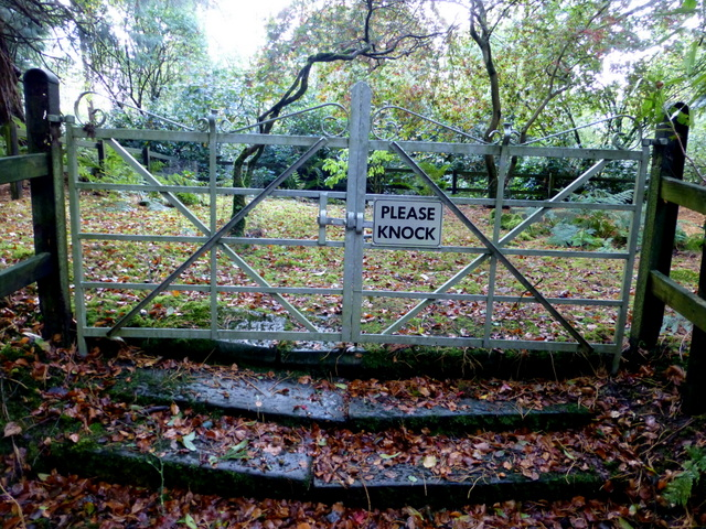 Gate, Memorial Garden, Seskinore Forest