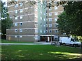 SO9390 : Moving day at Clent Court flats, off Vicarage Prospect, Dudley by Robin Stott