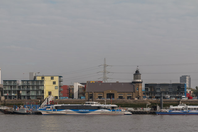The Only Lighthouse in London, Trinity Buoy Wharf as seen from The River Thames