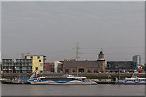 TQ3980 : The Only Lighthouse in London, Trinity Buoy Wharf as seen from The River Thames by Christine Matthews
