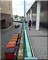 SP0786 : Pedestrian ramp from St Martin's Walk down to Moor Street Queensway, Birmingham by Robin Stott