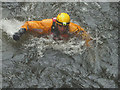 NY3603 : Rescue practice in the River Brathay (3) by Karl and Ali