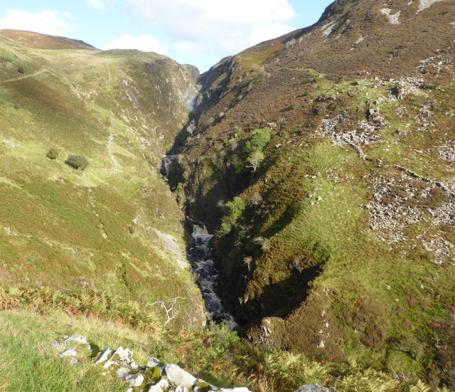The gorge of the Afon Cynfal by David Medcalf