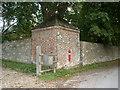 SU1877 : Corner pavilion with Victorian letterbox, Draycot Farmhouse, Draycot Foliat by Vieve Forward