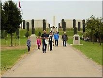 SK1814 : National Memorial Arboretum, Path Towards the Armed Forces Memorial by David Dixon