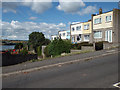 SX9273 : Flat-roofed two-storey terraced houses off Kingsway, Teignmouth by Robin Stott