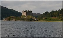 NM6672 : Castle Tioram at high tide by Becky Williamson