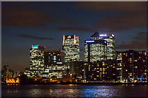 TQ3880 : Canary Wharf from the River Thames by Christine Matthews