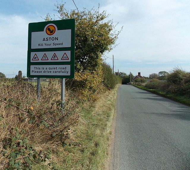 Western boundary of Aston