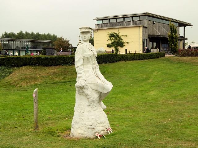 ATS Statue and Millennium Chapel at the National Memorial Arboretum
