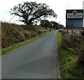 SJ5328 : Brockhurst boundary sign viewed from Aston by Jaggery