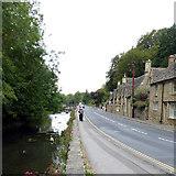 SP1106 : River Coln alongside B4425 - Bibury by Roger Gittins