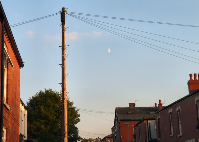 Afternoon Moon over Henry Street