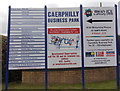 ST1686 : Caerphilly Business Park name board and map by Jaggery