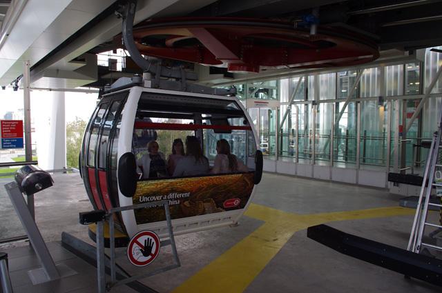 Emirates Air Line gondola, Greenwich Peninsula
