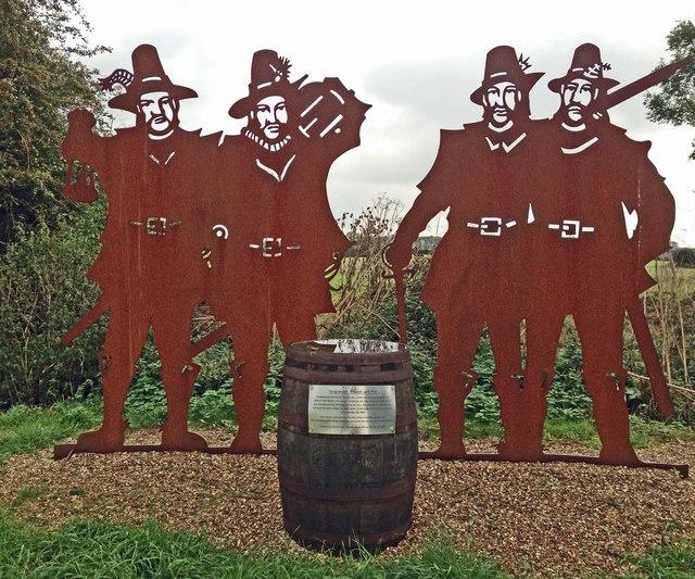 Gunpowder plot sculpture detail