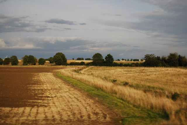 Ditch and field boundary