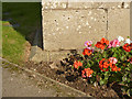 SK7383 : Bench mark, St John the Baptist Church, Clarborough by Alan Murray-Rust