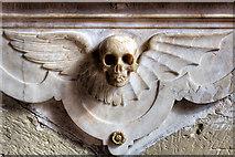 SJ3454 : All Saints Church, Gresford - Trevor monument (detail 2) by Mike Searle