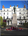 SP3165 : Leamington War Memorial the day after Armistice Day, 2013 by Robin Stott