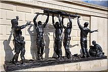 SK1814 : National Memorial Arboretum - Armed Forces Memorial (detail) by Mike Searle