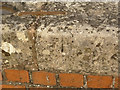 SK7283 : Pivot bench mark, Clarborough Top Bridge by Alan Murray-Rust