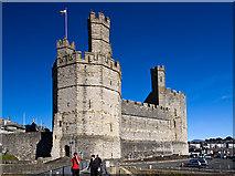 SH4762 : Eagle Tower - Caernarfon Castle (3) by Mike Searle