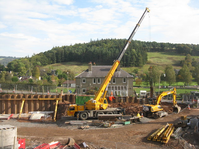 Pushing in the piling