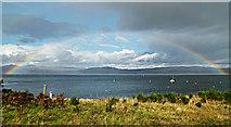 NS3174 : Port Glasgow rainbow by Thomas Nugent