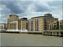 TQ3680 : Victoria Wharf and Papermill Wharf, Limehouse by Robin Webster