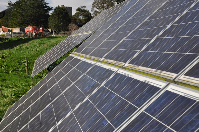 Ashcott : Ashcott Farm Solar Panel