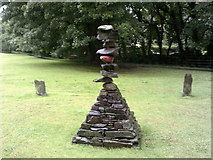 NY3704 : Turning Point Sculpture, Rothay Park, Ambleside by Peter S
