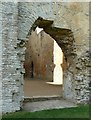 SP3211 : Minster Lovell - Eastern doorway into the Great Hall by Rob Farrow