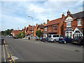 SP0366 : Brick houses, north side of Birchfield Road, Headless Cross, Redditch by Robin Stott